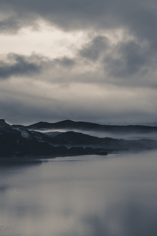 lake fog misty Iceland