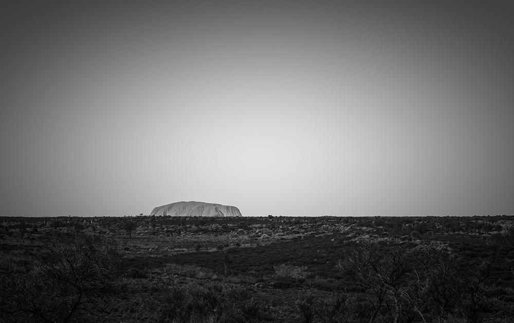 Uluru noir outback